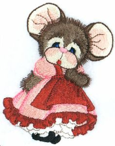 Threadsketches' set Sugar Tails, Valentine's embroidery designs, dancing lady mouse