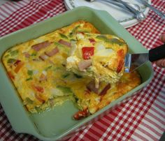 Omelet Made Easy - I love this idea, just like baking bacon, I love anything that'll get me out of standing over the stove. Lol