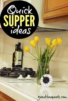 With school and activities coming up, we know you can use some Quick Supper ideas! Click through for some great ideas and recipes.