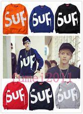 Fashion Sweater Sup superme crewneck Hip-Hop Sweatshirt EXO KRIS Same Style NEW