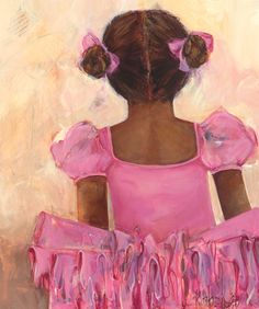 Perfect Ballerina - African American Canvas Reproduction by Kristina Bass Bailey - Oopsy daisy Painting