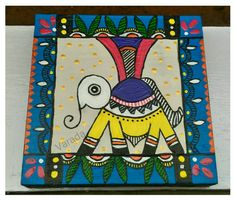 Worli Painting, Painting For Kids, Fabric Painting, Art For Kids, Children Painting, Madhubani Art, Madhubani Painting, Return Gifts For Kids, Tea Coaster