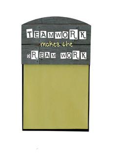 Inspirational Quote desktop decor, gift for teacher coworker or friends, office decor, Teamwork makes the dream work by PHOTOgiftsKALUCAart on Etsy