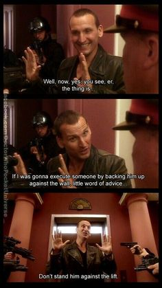 Serie Doctor, Ninth Doctor, Doctor Who Funny, Doctor Who Quotes, Doctor Who Humor, Doctor Who 9, Christopher Eccleston, Out Of Touch, Fandoms