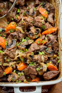 Beef with Caramelized Onions & Mushrooms. A healthy dinner recipe to enjoy on a weeknight. All clean eating ingredients are used for this healthy beef recipe. Make during meal prep to enjoy all week. Pin now for try later. Beef Steak Recipes, Beef Recipes For Dinner, Meat Recipes, Cooking Recipes, Beef Meals, Oven Recipes, Beef Welington, Sirloin Recipes, Recipies