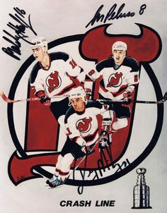 """#NJDevils """"The Crash Line""""—New Jersey Devils (mid-1990s)—Bobby Holik, Randy McKay, and Mike Peluso: average weight of linemates was 215 pounds #NHL"""