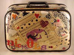 Vintage Paperista: Brides Altered Vintage Suitcase