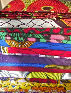 African fabric, such vivid beautiful colors...