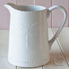 White dragonfly jug - £17.00 - A fantastic range of White Dragonfly Jug from Listers Interiors | Bedding, Curtains, Furniture, Accessories &...