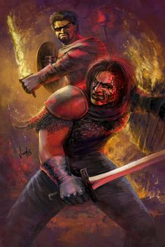 Sandor Clegane vs Beric Dondarrion. by NickKalinin.deviantart.com on @deviantART