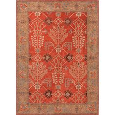 Hand-Tufted Transitional Red Wool Area Rug (5' x 8') - Overstock Shopping - Great Deals on 5x8 - 6x9 Rugs