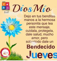 Bendecido jueves Spanish Greetings, Happy Week, Good Morning Texts, Women Of Faith, Celebration Quotes, Daughter Of God, Dear God, Months In A Year, God Is Good