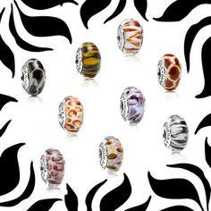 New Pandora Animal Print Murano Glass