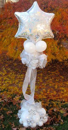 Winter or wedding complexes – Artsupplies Balloon Table Centerpieces, Wedding Balloon Decorations, Xmas Decorations, Birthday Decorations, Balloon Flowers, Balloon Bouquet, Balloon Backdrop, Balloon Ideas, Wedding Ballons