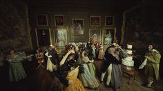 Les Mis (2012)   On the set of Les Miserables, the wedding reception for Cosette & Marius.