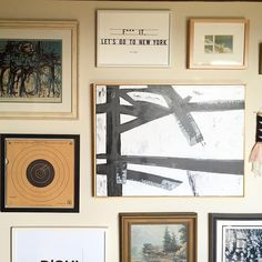 Love this masculine gallery wall. Perfect mix of framed photos and framed canvas. |  via @pickloveenjoy