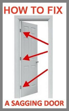 HOW TO FIX A SAGGING DOOR