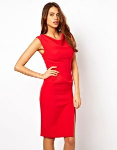 ASOS Pencil Dress with Slash Neck Detail Perfect wedding attire!