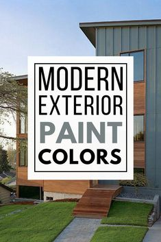Must see modern exterior paint color combinations that work so well together! Paint your home's exterior with confidence after being inspired by these great modern color schemes. Best House Colors Exterior, Exterior Paint Color Combinations, Best Exterior Paint, Modern Color Schemes, House Paint Exterior, Exterior Paint Colors, Modern Colors, Modern Exterior, Colorful Interior Design
