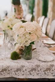 Vintage Wedding Idea - love a good lace table cloth.