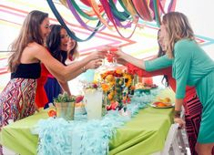 LOVE the DIY decorations for this darling party!