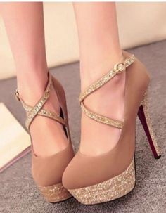 Find More at => http://feedproxy.google.com/~r/amazingoutfits/~3/V2hQWhwt3Ms/AmazingOutfits.page #tanpromheels