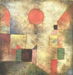 80% off a Hand Made Oil Painting Reproduction of Red Balloon, one of the most famous paintings by Paul Klee. Free certificate of authenticity free shipping.