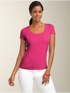 Talbots Scoopneck Pima Cotton Tee