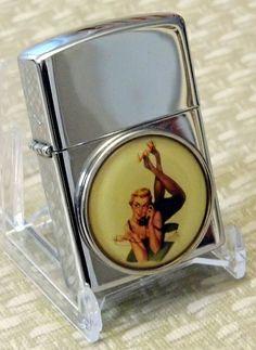 Vintage P.I.I. Cheesecake Cigarette Lighter.