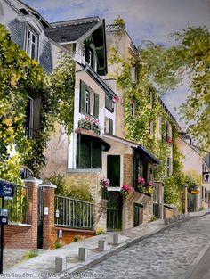 Marie-Claire Houmeau  Rue des saules - Montmartre
