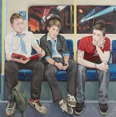 Artist Ewing Paddock's three-year project of painting people on the London Underground. Painting People, Figure Painting, Beginning And End Art Gcse, London Drawing, People Reading, Modern Portraits, Reading Art, Political Art, A Level Art