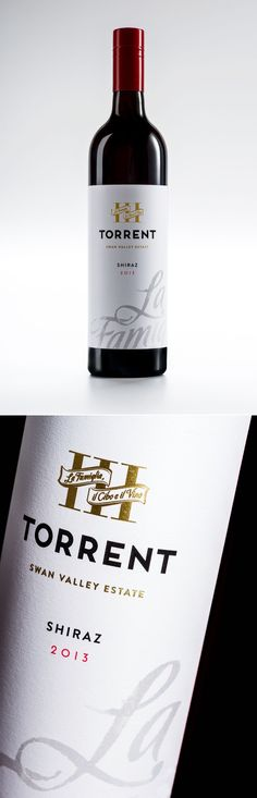 Torrent Wines, Swan Valley, Western Australia. Brand development and packaging design by Studio Lost & Found - http://www.studiolostandfound.com/ #wine #winelabel #winepackaging #swanvalley #torrent #torrentwines #packaging #pd #graphicdesign #branding #typography