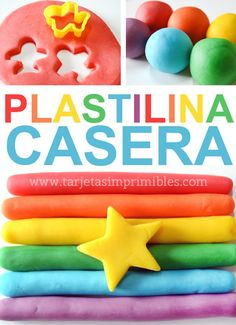 How to make homemade plasticine, the best recipe- If there is an activity that my children enjoyed as children, it was to play with modeling clay or masses to model. It is a game that entertains children and benefits the development of motor skills … - 4 Kids, Diy For Kids, Gifts For Kids, Children, Infant Activities, Activities For Kids, Party Deco, Ideas Para Fiestas, Play Doh