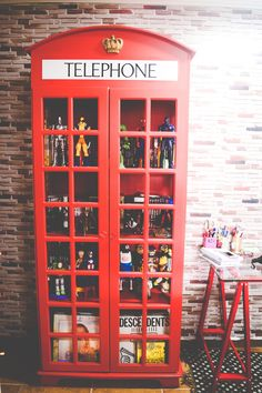 Telephone booth cabinet. That's super cool. Well, at least for me