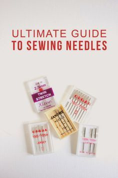 Ultimate guide to sewing machine feet | Choosing the right needle for your sewing project can seem like a real drag. Take the hassle out of it by using this handy, no-nonsense guide | Randomly Happy