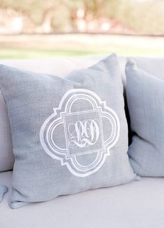 A Bridal Party of 34 for this Classic Cavallo Point Wedding Monogram Pillows, Diy Pillows, Throw Pillows, Wedding Lounge, Lodge Wedding, All White Wedding, Dream Wedding, Pillow Room, Wedding Gallery