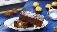 Schokoladige Sünde in 10 Minuten gezaubert: Rocher-Brownies. - YouTube