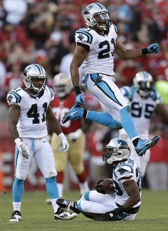 from Carolina Panthers Drayton Florence seals the deal with an interception in the final seconds of today's game