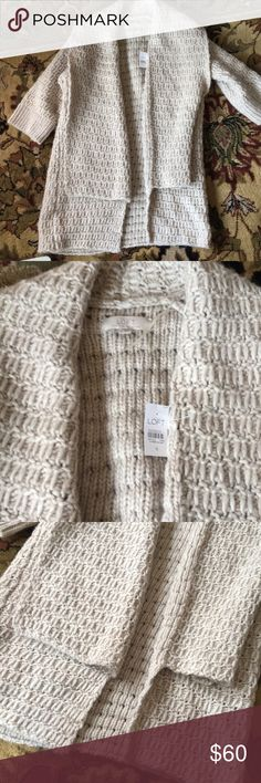 NWT loft sweater Over sized sweater perfect for cuddling up in LOFT Sweaters Cardigans
