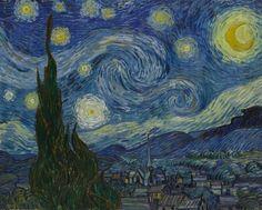 The Starry Night 1889. (73.7x92.1cm)