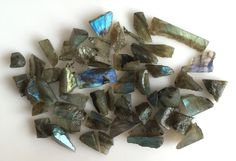 392CT NATURAL LABRADORITE ROUGH SLICE GEMS FLASHY LOOSE LOT RAW MINERAL SPECIMEN #ROUNDSNROSES