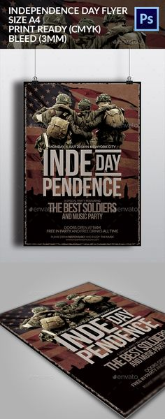 July Th Independence Day Flyer  FontsLogosIcons