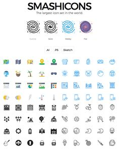 Flat icons by smashicons