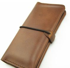Handmade Leather Wallet for Men Purse iPhone 5/4s por BunnysGoods