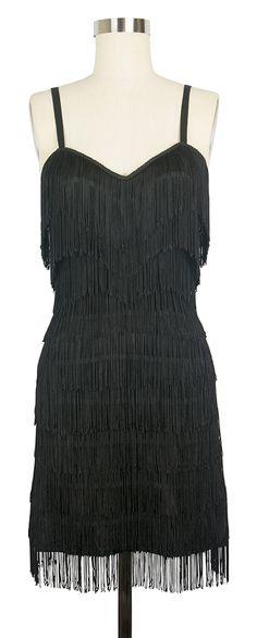 Trashy Diva Zelda Dress | 1920s Inspired Dress | Black Fringe I think this dress looks like a 50's does 20's like the the one Wanda Jackson used to were.