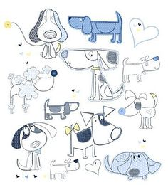 Drawing Doodles Sketches All about surface pattern ,textiles and graphics Doodle Drawings, Easy Drawings, Animal Drawings, Doodle Art, Drawing Sketches, Pencil Drawings, Drawing Ideas, Dog Illustration, Cartoon Dog