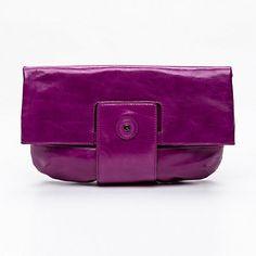 Lamarthe Paris-Pochette Purse, cuir de veau pleine fleur violet 32 x 33 x 1 cm