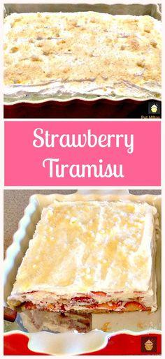 Strawberry Tiramisu. A wonderful chilled dessert, using fresh strawberries and very easy to prepare.