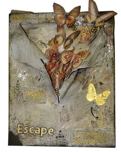 Art For sale Free Fast Shipping: Decorate your Home with this Awesome Mixed Media Art Piece. Made on Canvas Many Materials were used from paper to Solid Objects and letters. Measurements in inches: 15