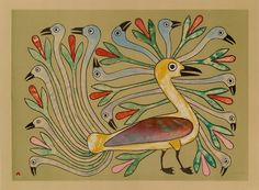 Kenojuak Ashevak is an Inuit artist and one of Canada's most acclaimed graphic artists. Kenojuak has travelled all over the world as an ambassador for Inuit art.